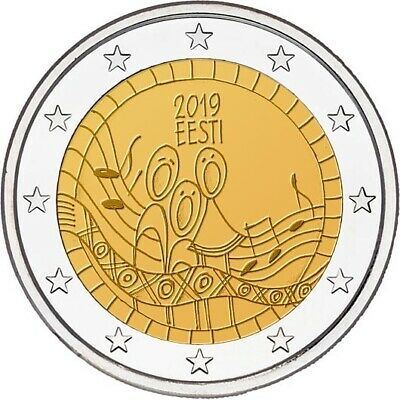2 euro commemorative coin Estonia 2019 - 150 years of First song festival