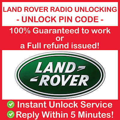 Land Rover Radio Code Unlock Stereo Defender Freelander Discovery