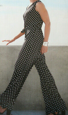 Jumpsuits & Rompers Zara New Belted Polka Dot Jumpsuit Long Brown Loose Fit Pocket Button Size Xs-xl