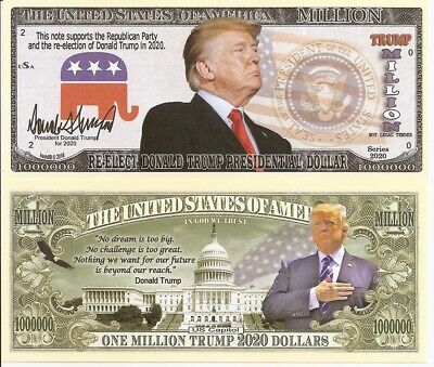 Usa Billete 2020 Million Dollar Trump