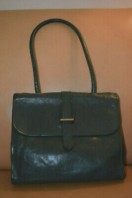 5e18e3adefb IL bisonte buckle closure shoulder bag, color: green, made in Italy,size
