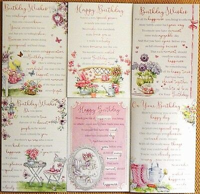 Pack of 6 Female Birthday Cards, Assorted mixed Female Ladies Birthday Cards /Z1