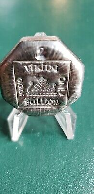 2.00 ozt   Hand Poured 999 Silver. Viking Bullion octagon Bar .