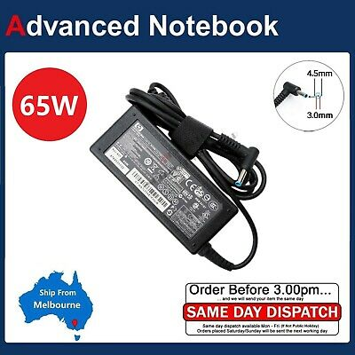 Genuine Laptop AC Power Adapter Charger 19.5V 3.33A 65W for HP 710412-001