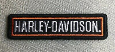 Harley Davidson Classic Bar Logo Patch Sew / Iron On Motorcycle Shield Bike
