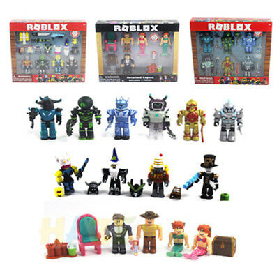 Roblox Game 7 Sets Figure Champion Robot Mermaid Toy Gifts Without Box