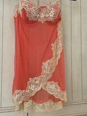 FREDERICK'S OF HOLLYWOOD LINGERIE  Size Large. Sexy Coral