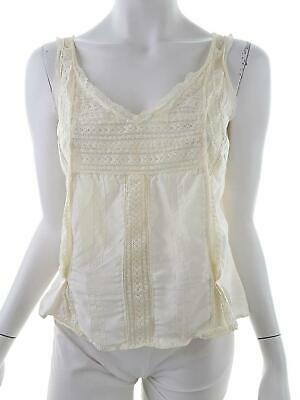New Vintage By Oasis size 14 (42) Blus lace silk 100% cream