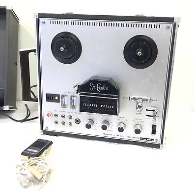 Sanyo Sir Realist Model 6430 Channel Master Stereophonic Reel to Tape Recorder
