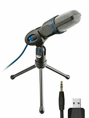 Trust 20378 Mico USB Microphone and Stand for PC and Laptop, USB Connected