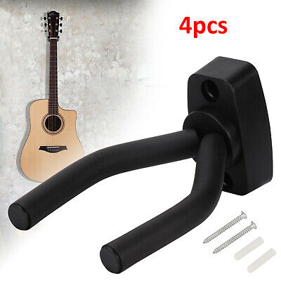 4Pcs Guitar Hanger Adjustable Wall Mount Display Bracket Hook Holder Bass Stands