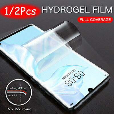 For Huawei P30 Pro Lite Full Cover Soft 9D Hydrogel TPU Screen Protector CA jc