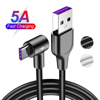 1-3 Meter 5A Type C USB-C Sync Super Fast Charging Charger Cable Lead For Huawei