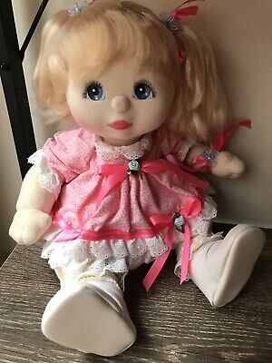 My Child Doll Blonde Pony Blue Charcoal Pink