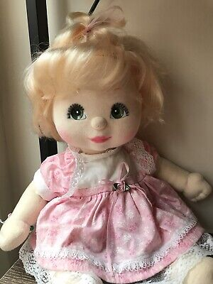 My Child Doll Blonde Top Knot Charcoal Pink