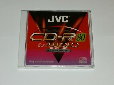JVC CD-R Audio / Music Recordable CD Individual Full Size CD Case Sealed CD-RA80
