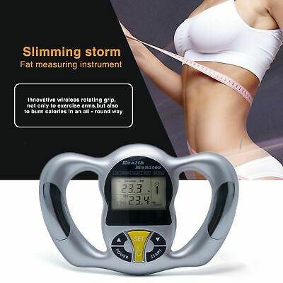 Body Health Monitor Digital LCD BMI Fat Analyzer Weight Loss Calorie Tester