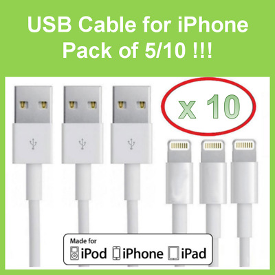 USB Lightning Charger & Data Sync Cable Lead For Apple iPhone 5 iphone 6 7 8 X