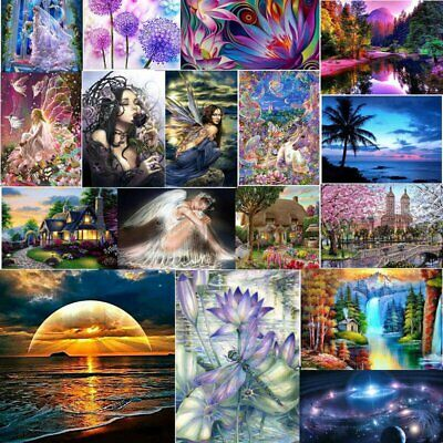 Full 5D Diamond Painting Kits Cross-Stitching Embroidery Landscape Art Crafts S4