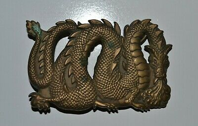 Vintage Dragon Belt Buckle NAP Inc Waisted Belts 1983