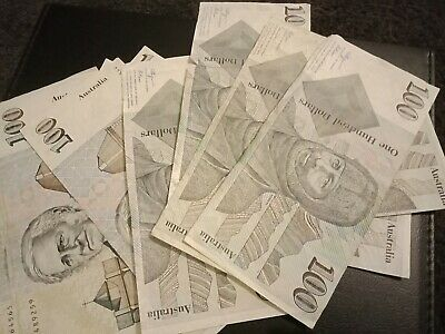 Australian Old Paper Money $100 banknotes Circulated condition