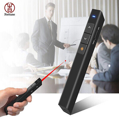 Wireless PowerPoint Clicker Presentation Remote Control PPT Presenter Pen Black