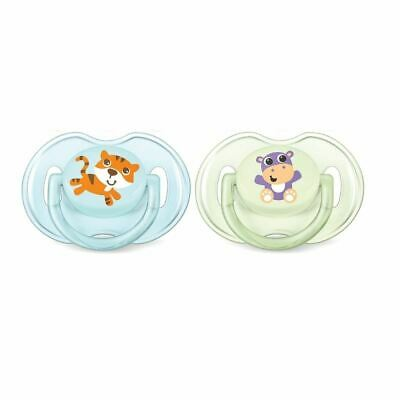 Philips Avent Classic Soother 0-6 Months Boy - Tiger / Hippo