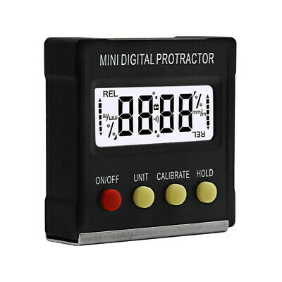 360 Degree Light Digital Protractor Inclinometer Electronic Level Magnetic Box