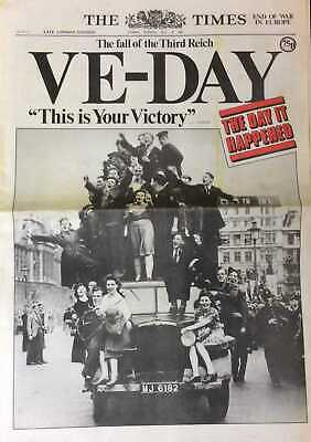 VE-Day. The fall of the Third Reich. The Times. Tuesday, May 8th, 1945.