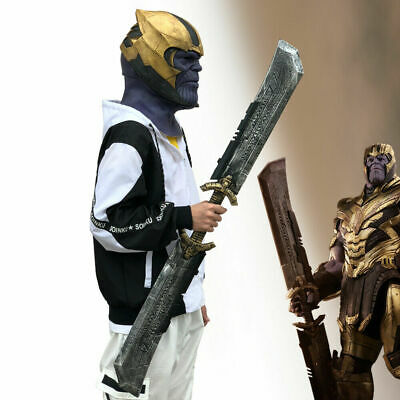 Avengers Endgame Thanos DOUBLE-EDGED SWORD Mask Gloves Halloween Cosplay Props