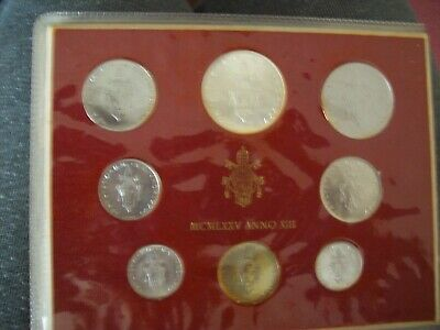 Vatican 1975 MCMLXXV Paul VI ( ANNO XIII Year)  Coin Set - Unc