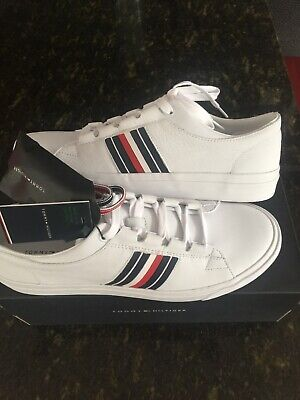 1721a3bc Tommy Hilfiger White Corporate Leather Trainers Court BNIB Just  £44.99Manchester