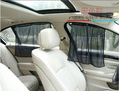2 PC Sun Shade Curtain Window Screen Cover Sunshade Protector For Car Auto Truck