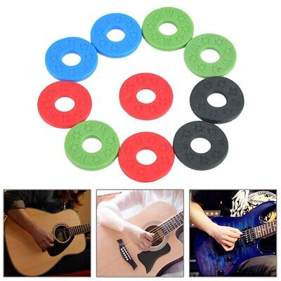 10x Guitar Strap Locks Washer Rubber Safety Strap Lock Washer for Guitar Bass