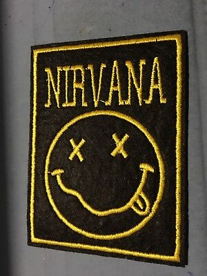 """Nirvana Music Band Embroidered Metal Rock Sew On Iron On Patch 2.75""""x3.75"""""""