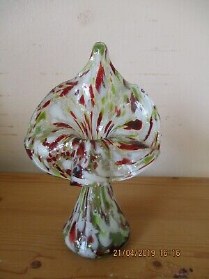 Antique Victorian JIP VASE Jack in the Pulpit Art Glass Mica Spangle Spatterwar