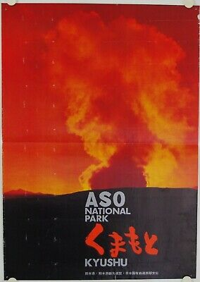 Affiche Tourisme ASO National Park - KYUSHU Japon