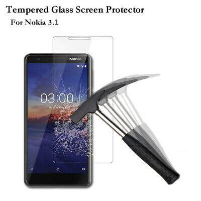 For Nokia 3.1 100% Real Tempered Glass Film Screen Protector Cover Protections