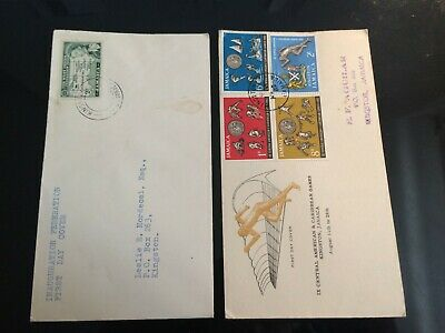 Jamaica QE2 X2 First Day Covers 1956/62