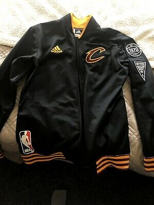 4cf8b27644d3 Cleveland Cavaliers Cavs adidas 2015 16 On-Court Warm-Up Jacket authentic  Large