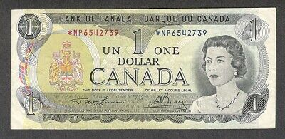 1973 *NP $1.00 BC-46aA F+ SCARCE Bank of Canada Key ASTERISK REPLACEMENT Note