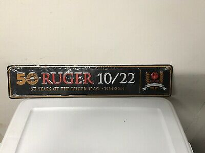 Ruger 10/22 Rifle 50th Year Anniversary Collector Edition Tin Sign Advertisement