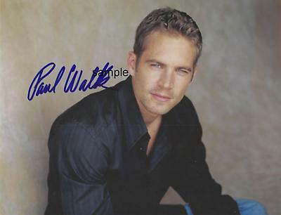 Paul Walker #2 Reprint 8X10 Autographed Signed Photo Fast Furious Man Cave Gift