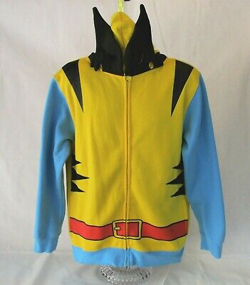 95c1a555 Marvel Comics Wolverine X Men Hoodie Costume Medium Full front Zip Mask  Cosplay