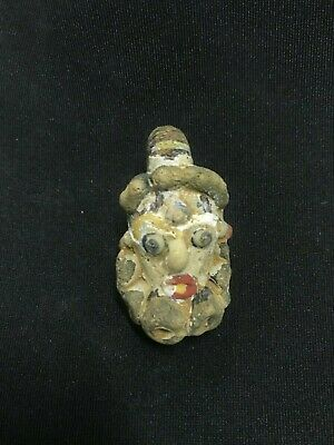Ancient Very Rare Phoenician Face Bead Roman Jewish Stunning 200bc Amulet N4