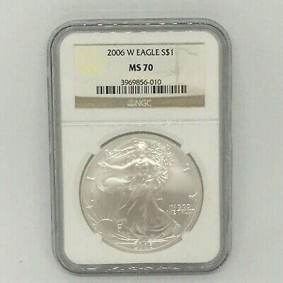 2006-W Burnished $1 American Silver Eagle NGC MS70 (Brown Label)