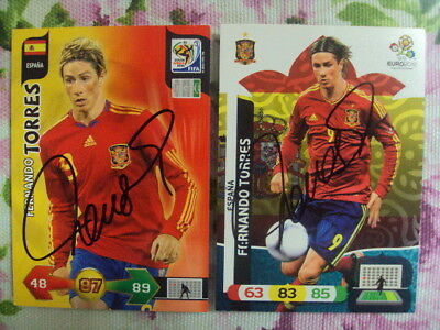 FERNANDO TORRES signe cards. (2) Adrenaly XL. Spain. CODE UNUSED