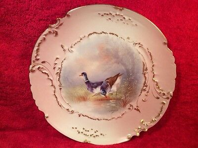 Plate Antique Authentic Limoges Hand Painted Game Bird Plate c1894-1906, L259