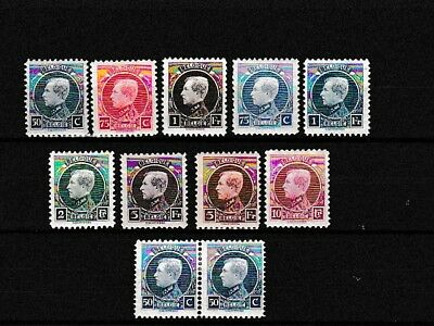 "Stamps Belgium 1921 set King Albert ""Montenez"" MLH VF"