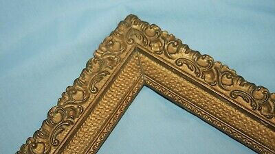 Ornate Vintage Gold Gilt Wood Picture Art Mirror Frame 14 x 17  #3